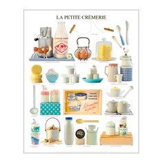 Atelier Nouvelles Images Print - My little cheese shop