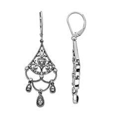 1/4 CT. T.W. Diamond Chandelier Drop Earrings in Sterling Silver - Zales