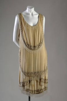 "Evening gown, 1926. Gabrielle ""Coco"" Chanel, France. Silk velvet, rhinestone, glass bead. Gift of Mrs. C. Phillip Miller. 1959.391"