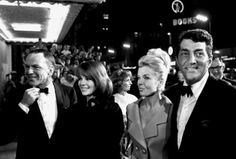 Frank Sinatra, Natalie Wood, Jeanne Martin and Dean Martin at the premiere of My Fair Lady, 1964.