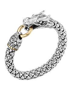 Large Dragon Bracelet, Size: L, silver - John Hardy Gold And Silver Bracelets, Gold Bangles, Silver Necklaces, Silver Jewelry, Fine Jewelry, Silver Ring, Dragon Bracelet, Ring Bracelet, Bracelet Sizes