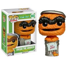 Funko Pop! Sesame Street fig # 03 Oscar the Grouch EE Exclusive w/ GO AWAY sign #Funko