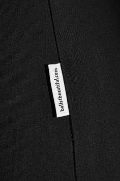 Black stretch-nylon Pull on 80% nylon, 20% spandex; trim: 100% nylon; lining: 54% cotton, 40% polyester, 6% spandex Hand wash cold