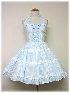 angelic pretty ティアードホルターネックジャンパースカート