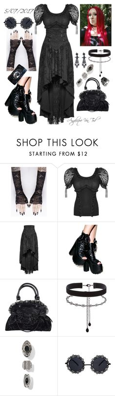"""Gothic"" by angelique-von-tod ❤ liked on Polyvore featuring Demonia, Accessorize and West Coast Jewelry"