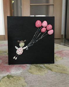 Alya (farklı isimler yazılır ) #hediyelik#taşboyama#çocukodası#dekorasyon#tuval#art#handmade#stoneart