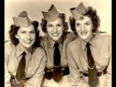 """Today 1-2 in 1941, the Andrew Sisters recorded one of their most popular songs, """"Boogie Woogie Bugle Boy,"""" at Decca's studio in Hollywood."""