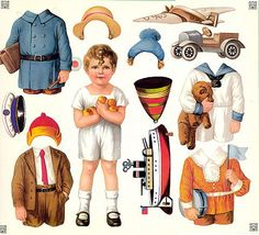 FFFFOUND! | I found these today ..... Vintage Illustration Doll Cuts Outs ..... and Hi Resolution downloads to print out ..... pure joy !!!!! on Flickr - Photo Sharing!