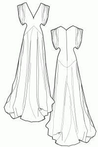 1920's sewing pattern - wedding dress - RalphPink-patterns.com