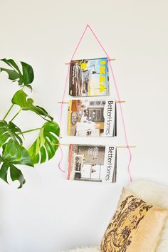 Want a simple and quick solution for your magazine clutter, try making this neon magazine holder under 10 minutes