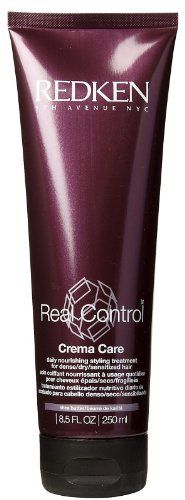Redken Real Control Crema Care Daily Nourishing Styling Treatment, 8.5 oz by REDKEN. $11.99. 100% Genuine. Salon Professional Styling product at discount prices. CREMA CARE DAILY NOURISHING STYLING TREATMENT provides superior discipline, control and manageability to the most difficult-to-manage hair Care-Adjust Complex Cationic Conditioners - Moisture & NourishmentProtein / Ceramide - Internal Strength & RepairShea Butter - Smoothing Frizz Control Redken's exclu...