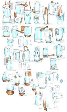 Sketchboard - Portable Speakers - Ronald Rink Design Portfolio Layout, Sketch Design, Speaker Drawing, Conceptual Drawing, Industrial Design Sketch, Water Bottle Design, Speaker Design, Cup Design, Technical Drawing