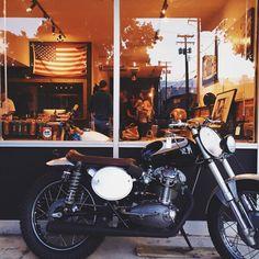 seaofsalts: Kick Start Garage's 1961 Ducati Diana on display at Kern & Hyde grand opening | 07.15