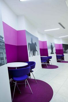 Inspiration: Offices Clad In Purple, The Color of Royalty
