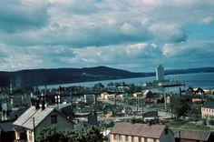 Steinkjer sentrum bomba 21. april 1940.