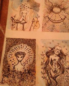 #draw  #blackart #fairyart   #cordulia #line #fineline #organic #plants #fae #faery #mushroom #alien #aliendays