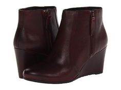 Clarks Rosepoint Bud Burgundy Leather - Zappos.com Free Shipping BOTH Ways