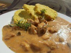 Kuřecí kousky na hříbkách Stew, Menu, Chicken, Food, Cooking, Menu Board Design, Essen, Meals, Yemek