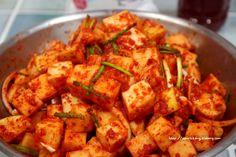 세미짱이 만드는즐거움, 맛보는행복 :: 깍두기 맛있게 담그는법 Korean Dishes, Korean Food, Kimchi Recipe, K Food, Food Festival, Food Design, No Cook Meals, How To Lose Weight Fast, Food And Drink