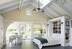 Garage converted into guest room