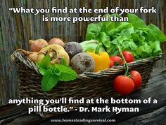 What You Choose To Eat Is One Of The Most Powerful Medicines of All! More info here: http://homesteadingsurvival.com/what-you-choose-to-eat-is-one-of-the-most-powerful-medicines-of-all/