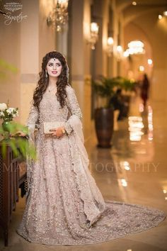 Pakistani Engagement Dresses For Brides In 2020 Pakistani Engagement Dresses, Engagement Dress For Bride, Pakistani Wedding Outfits, Pakistani Bridal Dresses, Bridal Outfits, Bridal Lehenga, Indian Dresses, Pakistani Couture, Walima Dress