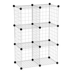 Whitmor Wire Storage Cubes, Black, 6/Set | space | Pinterest ...