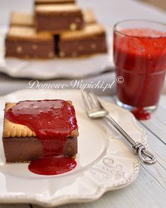 Deser z kaszą manną Polish Recipes, Polish Food, Eat Right, Panna Cotta, Cheesecake, Food And Drink, Cooking, Ethnic Recipes, Desserts