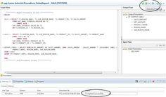 SAP HANA Central : Create Procedure in HANA - Do Not Use SQL Editor Any More
