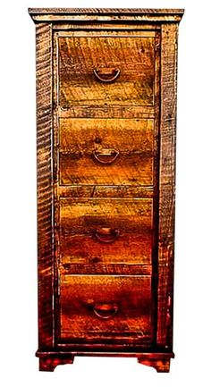 Red Fir & Reclaimed Barnwood File Cabinet Country Roads II Collection