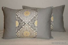 DecorativeAccentThrow  Set of Two Pillow by EllensDesigns on Etsy, $47.00