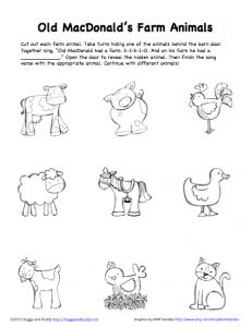 peek a boo farm animals activity free printable
