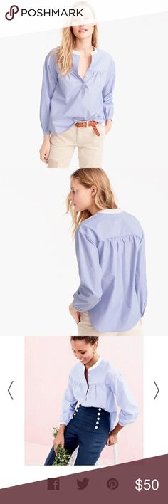 J Crew gathered pop over top size 10 Good used condition J. Crew Tops Blouses