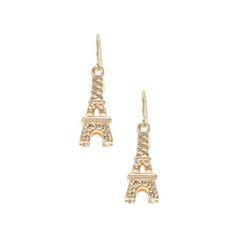 Gold Eiffel Tower Drop Earrings - 3.99 euros