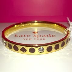 """TAKE 25% OFF Kate Spade Black Spot The ♠️Bangle ✨  SPRING COLLECTION Kate Spade ♠️ Black """"Spot The Spade"""" Bracelet NWTs • Includes dust bags • smoke free home • 20% donated to the American Cancer Society • IF INTERESTED LET ME KNOW & I WILL MAKE YOU A NEW LISTING AS I HAVE 2 • Thanks & Happy Poshing! ✨ kate spade Jewelry Bracelets"""