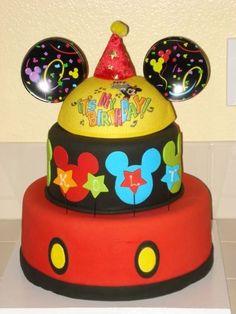 decoraçao bolo infantil mickey