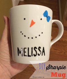 Pinner says;  sure you have seen these Sharpie Mugs are all over Pinterest, but you may have heard that they are a Pinterest Fail too. In fact my friend made them with regular sharpies and learned the hard way. This step-by-step instructions not only shows you how to make them AND tips on which markers won't wash off! This is such a fun easy project and DIY gift idea! We hope you love it as much as we did! Best of all you can make this project for around $1.00!