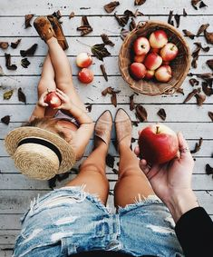 Apples with mom