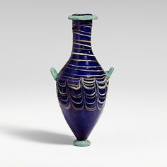 Glass unguentarium (perfume bottle) Period: Hellenistic Date: 3rd century B.C. Culture: Eastern Mediterranean, possibly Alexandrian Medium: ...