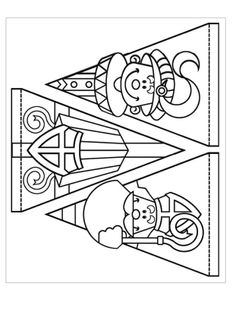 slingers stefan cent - Apocalypse Now And Then St Nicholas Day, Winter Kids, Kids Prints, Christmas Crafts For Kids, Digi Stamps, Colouring Pages, Diy For Kids, Craft Kids, Quilts