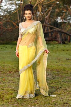 Yo Yellow Saree #saree #sari #blouse #indian #hp #outfit #shaadi #bridal #fashion #style #desi #designer #wedding #gorgeous #beautiful