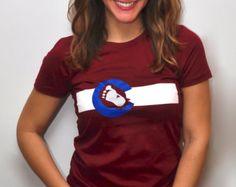 Colorado Avalanche / Colorado Flag Ladies' T-Shirt