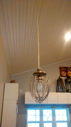 Once Upon an Acre: Making Industrial Mixer Whisk Pendant Lights