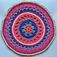 Crochet Mandala Wheels made by Saskia, Netherlands for yarndale.co.uk