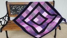 Contemporary Quilts, Contemporary Design, Purple Quilts, Bird Quilt, Lap Quilts, Black Table, Traditional Quilts, Quilted Table Runners, Quilted Wall Hangings