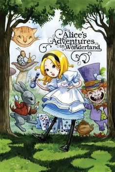 Alice in Wonderland. Year: #2010. Country: #UK. Illustrations: Jill Thompson and Jenny Frison. Additional Info: IDW Publishing printed edition. #book #cover #art