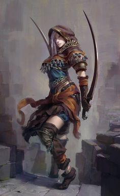 Shar foi uma assassina da Torre Negra, uma guilda poderosa que atuava em Adovon. Há dois anos, a guilda foi destruída e Shar capturada. Depois de um ano presa - sendo bem tratada - foi dada uma opção: se comprometer magicamente com Adovon e fazer parte de sua Unidade de Elite.