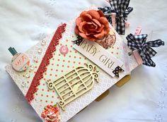 Baby Scrapbook Baby Book Baby Girl Album Baby by ArtistsCornerShop