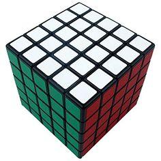 V5-Space Shengshou 5x5x5 esmerilado Cubos magicos para bricolaje Cubos Reproduccion velocidad,Negro