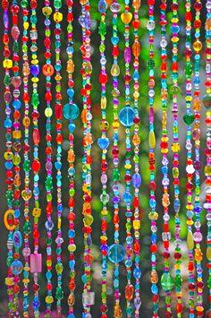 Beaded Curtain, Glass Beaded Suncatcher, Window Curtain, Beaded Door C Crystals And Gemstones, Crystal Beads, Glass Beads, Beaded Door Curtains, Window Curtains, Bay Window, Hanging Door Beads, Glass Curtain, Curtain Hanging